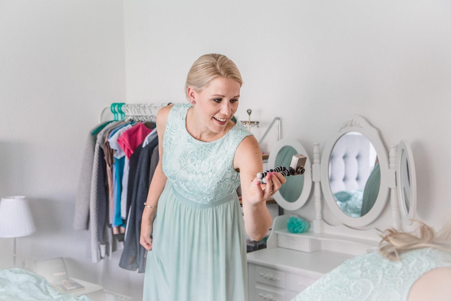 Hochzeit von Jennifer und Stefan in Münster: Brautjungfer filmt die Braut