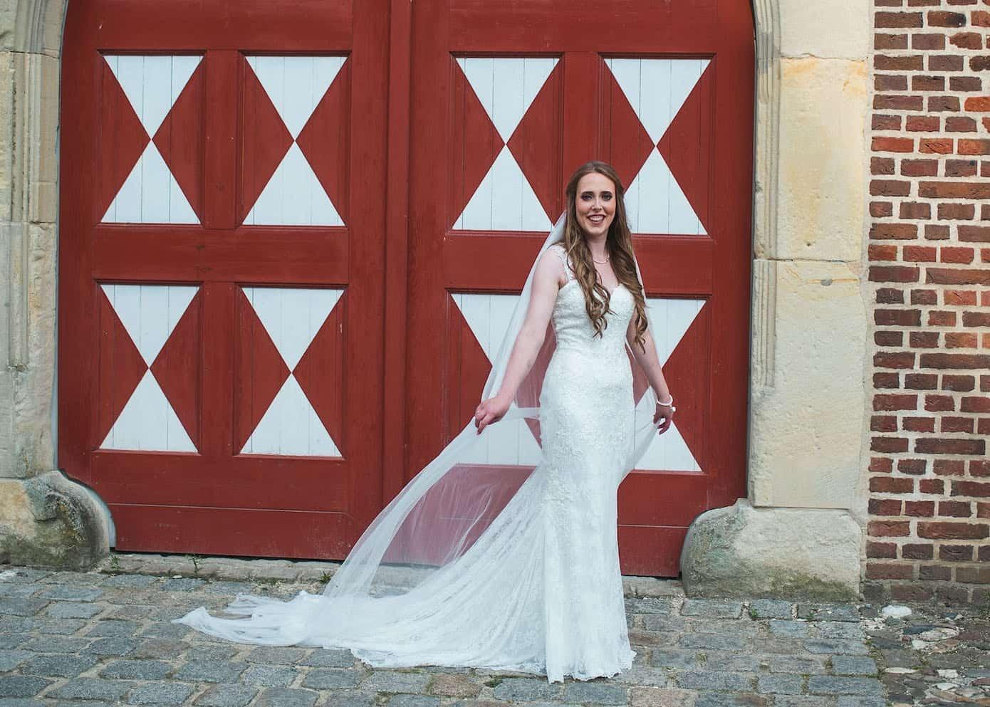 Hochzeitsfotograf Münster - Braut mit Schleier