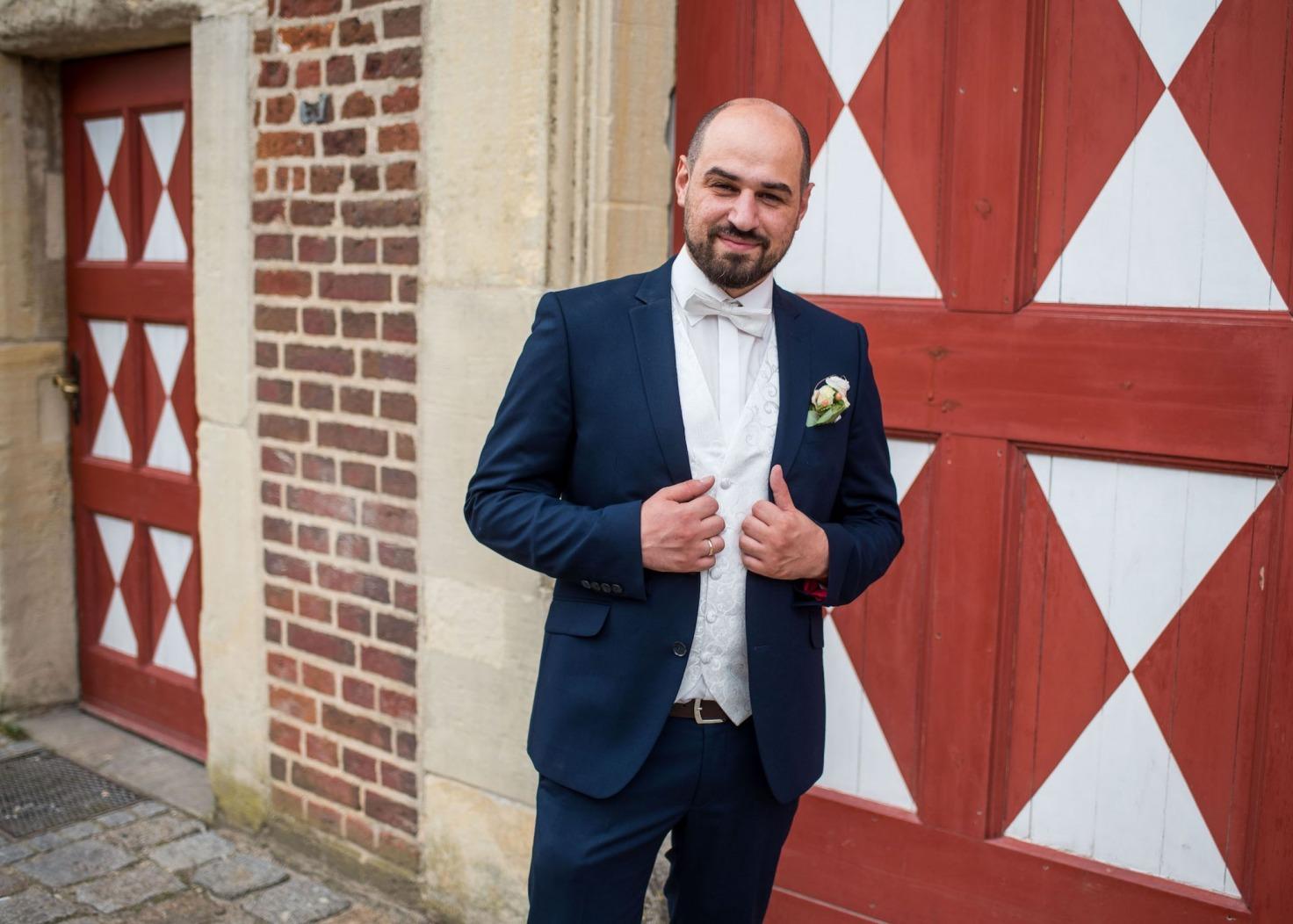 Hochzeit von Katharina und Mustafa in Münster: Der Bräutigam