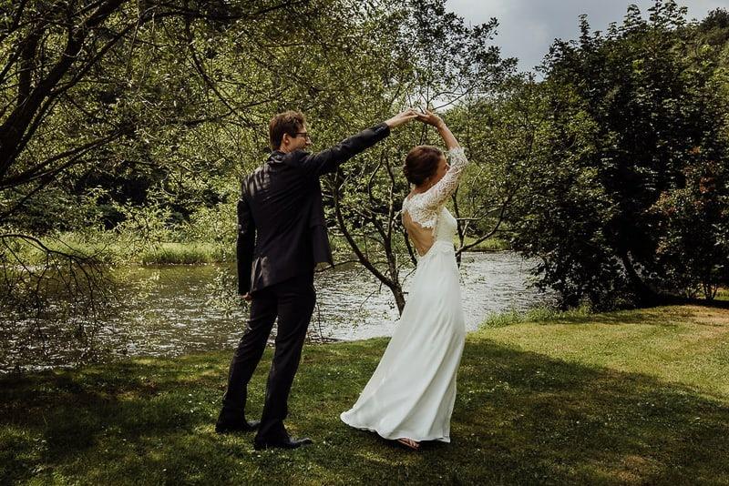Hochzeitsfotograf Münster - Brautpaar Tanz